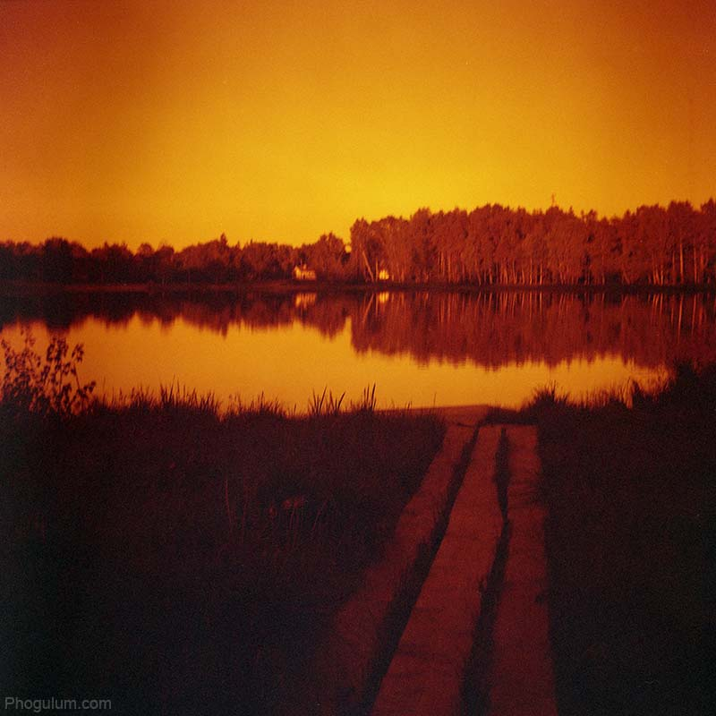 Lake With Redscale Film